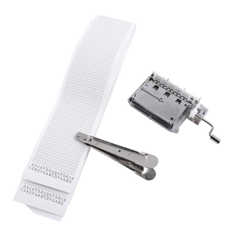30-Note Tapes Hand Crank Music caja Musical mecánica con perforador 3 tiras cintas crear su propia música Diy Music Box Promo