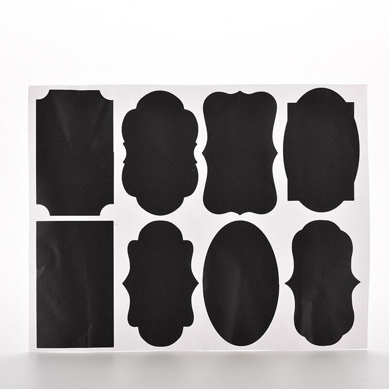 Kitchen Jar Organizer Labels Blackboard Sticker Craft Chalkboard Chalk Board 9*5.5cm Stickers Black  - buy with discount