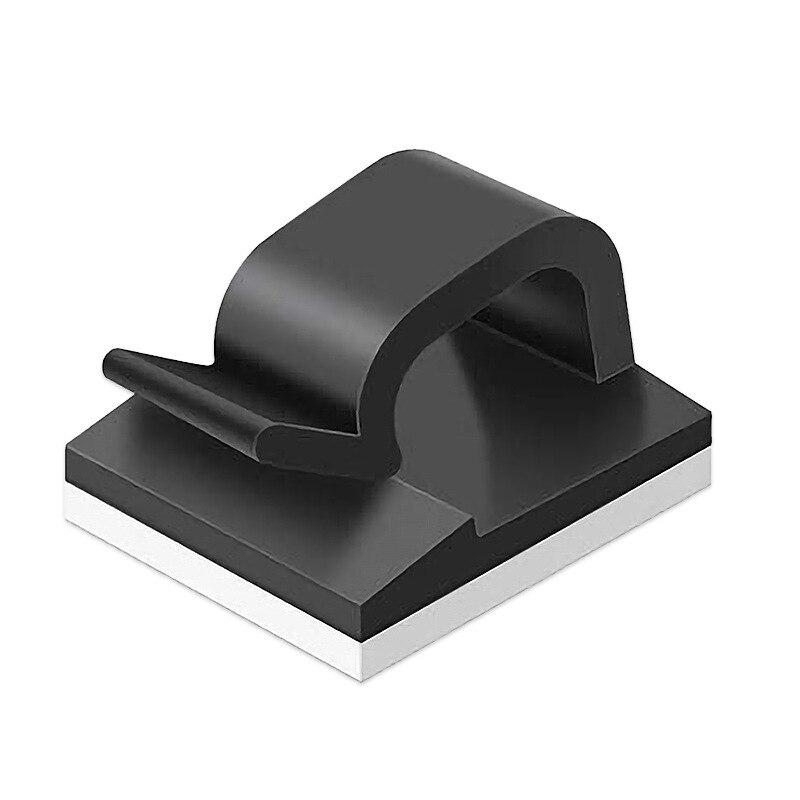 10 unids/bolsa auto-adhesivo no-Marca Cable versátil línea de escritorio Disposición de almacenamiento...