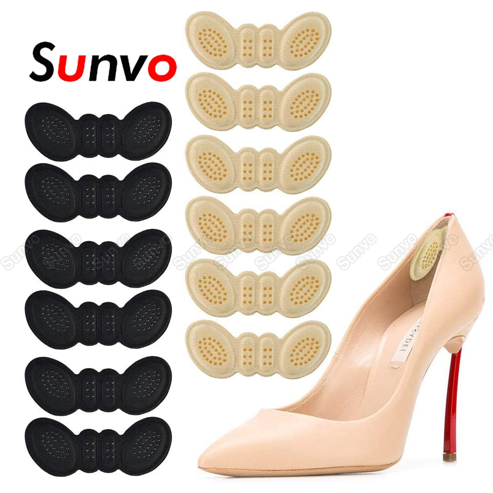 6 Pairs Heel Insoles Pads for Women High Heel Shoes Adhesive Liner Grip Heels Protector Sticker Foot Pain Relief Care Insert Pad