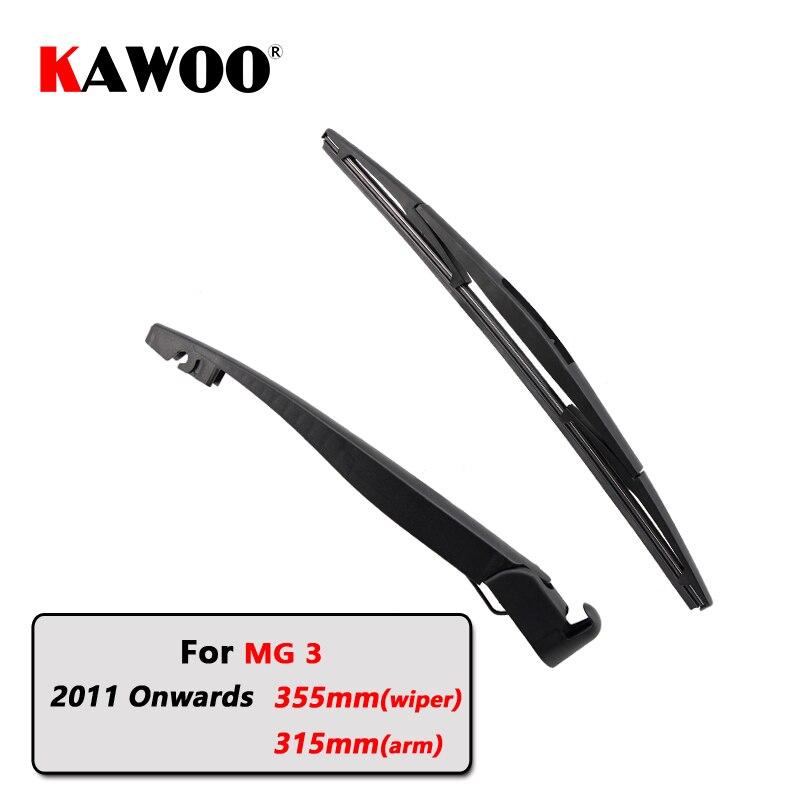 KAWOO Car Rear Wiper Blades Back Window Wipers Arm For MG 3 Hatchback (2011 Onwards) 355mm Auto Windscreen Blade Styling