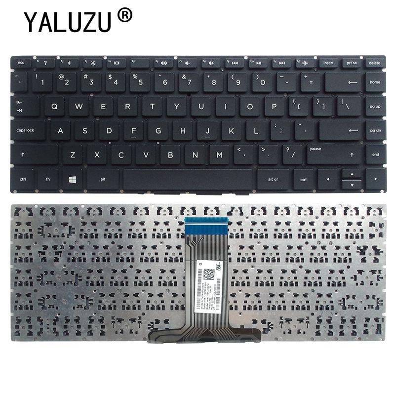 YALUZU-لوحة مفاتيح أمريكية جديدة لـ HP 14-bs 14-bs000 14-bs100 14-bs500 14-bs002la 14-bs003la 14-bs057cl ، لوحة مفاتيح سوداء