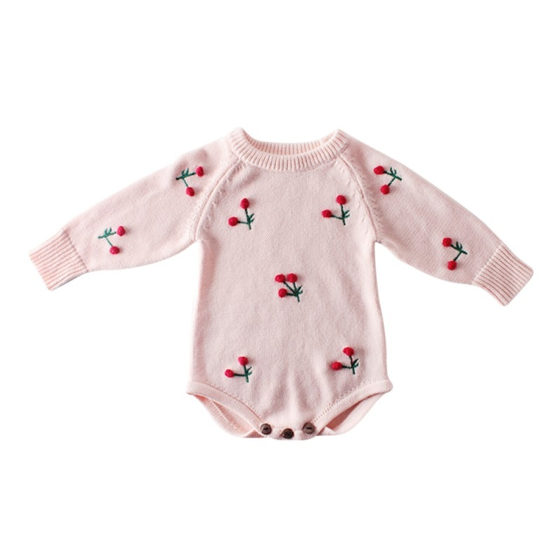 Recién Nacido bebé lindo algodón de manga larga Unisex Bebe niño niñas Bodysuit ropa de bebé leotardo Body Tops