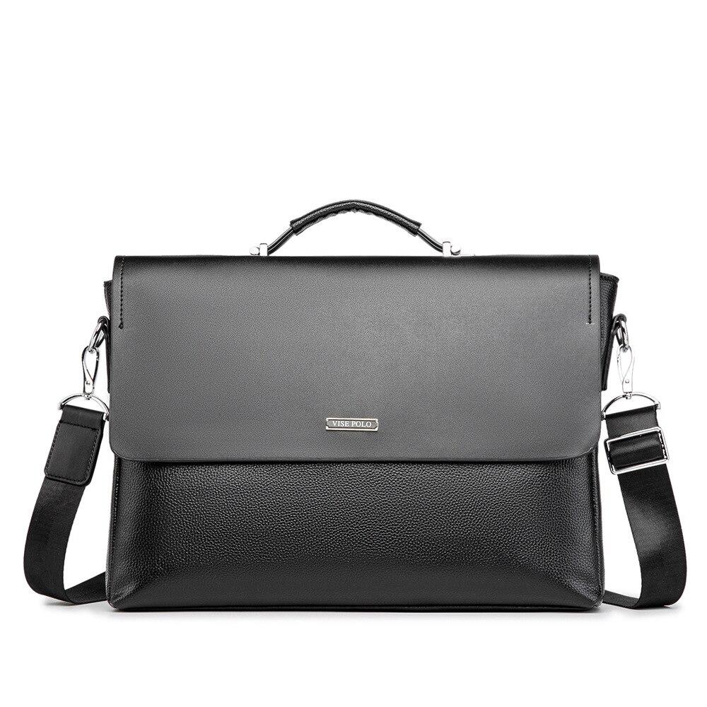 "Handmade PU Leather Briefcases 14""Laptop Handbag Men's Business Office Crossbody Bag Messenger Shoulder Bags for Men Japan Style"