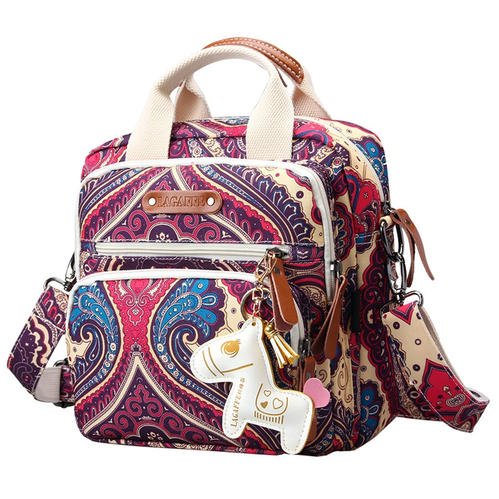 Multifunction Diaper Bag Backpack Mother Care Travel Bag Backpack Baby Stroller Bags Nappy Bag for Mom with Horse Ornaments недорого