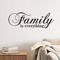 family is everthing wall sticker removable diy home decoration art mural wall sticker for living room kids room sticker poster