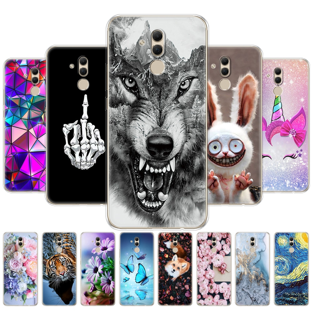 For Huawei Mate 20 Lite Case soft touch 6.3 inch Transparent silicon Phone For Huawei Mate 20 Lite C