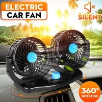 12v 24v 360 degree all round adjustable car auto air cooling dual head fan low noise car auto cooler air fan car fan accessories