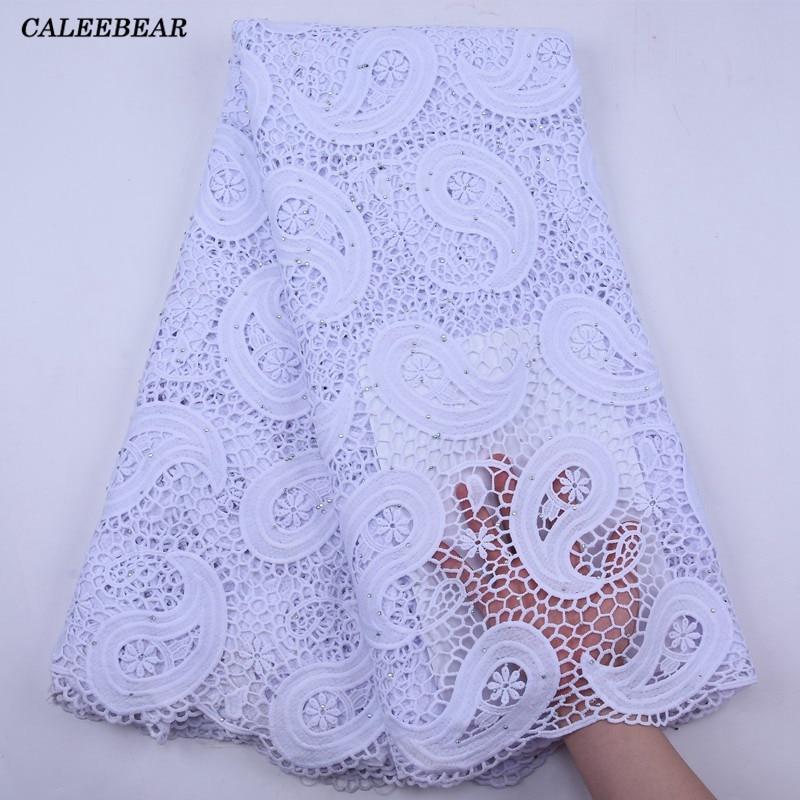 Французская белая гипюровая кружевная ткань 2021 высокое качество нигерийский шнур пошив кружевных тканей африканская кружевная ткань для с...