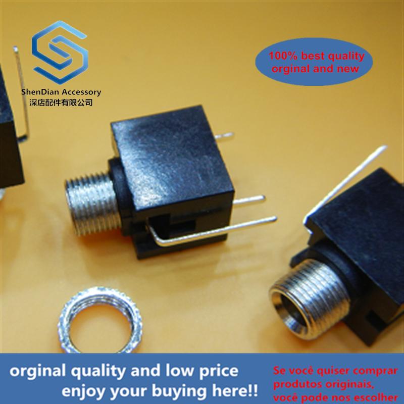 200 шт. разъем для наушников PJ-301M 3,5 мм разъем для аудио-видео измерительный штырь 90 градусов Полная медь термостойкость