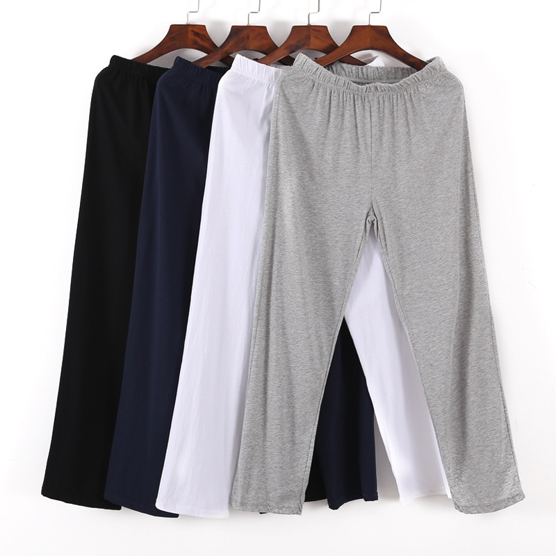 Men's Lounge Pants Soft cotton Sleep Bottoms long trousers Loose Casual Pajamas Summer Homewear sweatpants