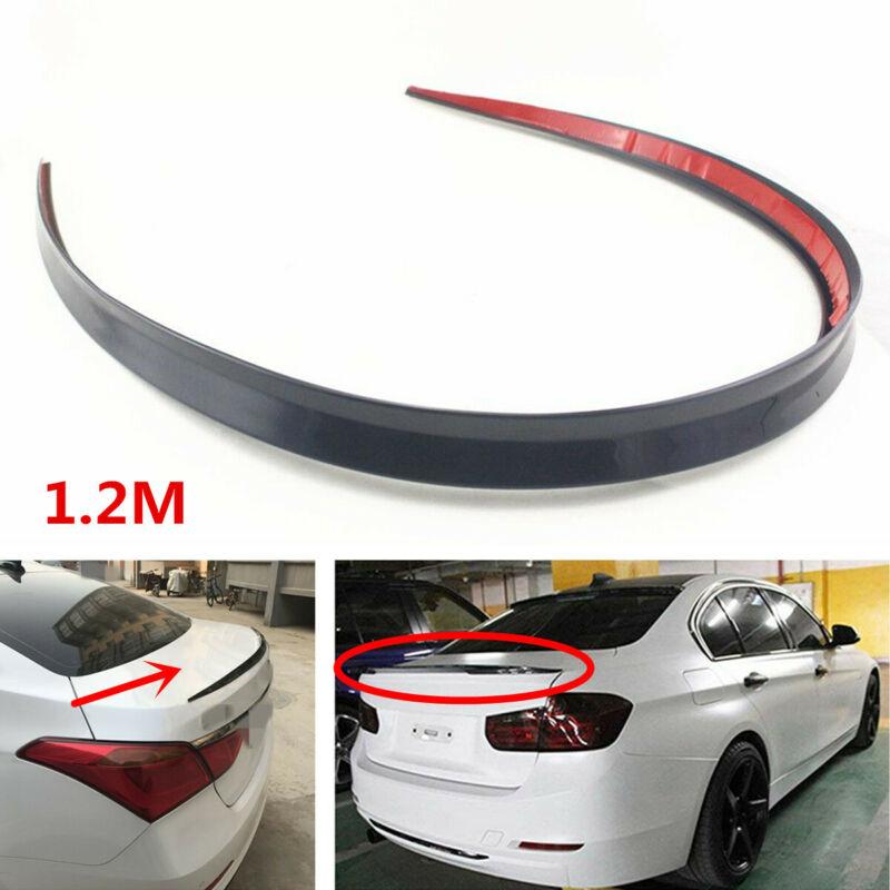 car styling carbon fiber material rear roof spoiler tail trunk wing boot lip molding for hyundai tiburon genesis coupe Universal 1.2M Black Soft Car Rear Roof Trunk Spoiler Rear Wing Lip Trim Sticker Car Spoiler