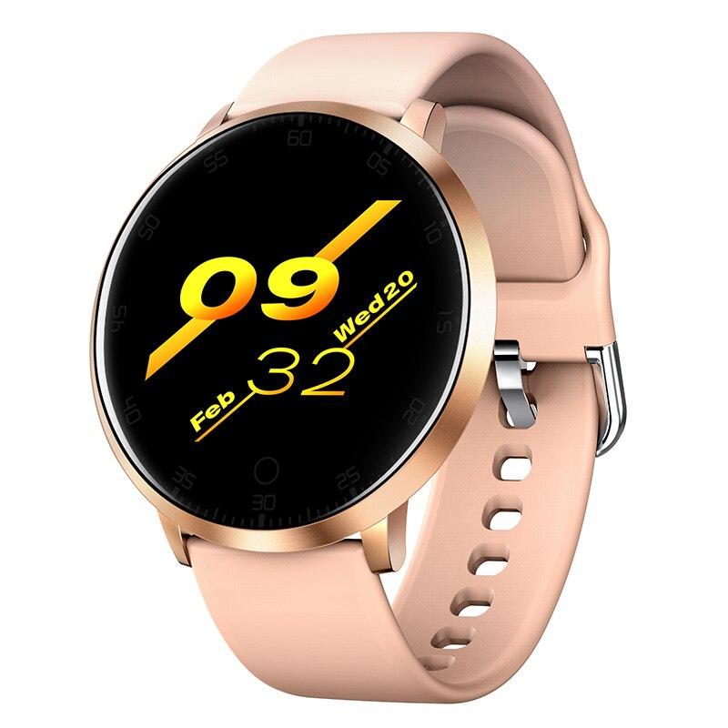 Nennbo K12-Monitor de ritmo cardíaco, presión arterial, oxígeno, IP68, a prueba de agua, Control de música ultradelgado, clima, bluetooth, Smart Watch