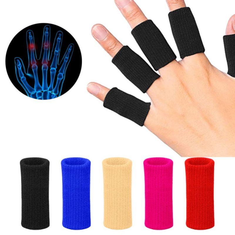 Nuevo set de 10 unidades de mangas para dedos voleibol y bádminton, llaves de protección, Protector deportivo lavable, Protector de dedos para baloncesto