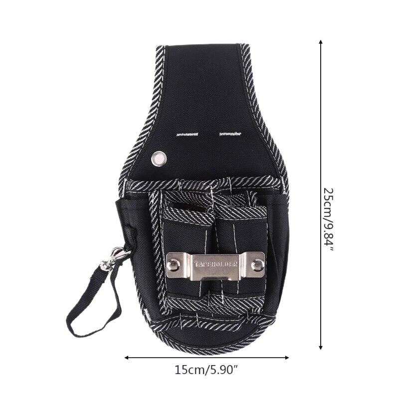 Чехол для дрели ударного действия, держатель для дрели, поясная сумка для инструментов, черный