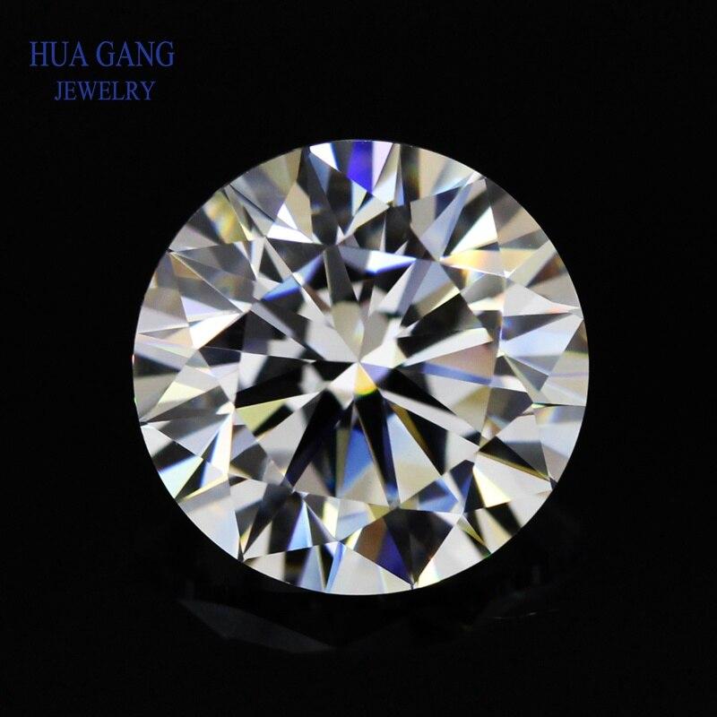 Moissanita 1 quilate D Color brillante redondo corte de piedra moissanita cuentas 6,5mm VVS1 excelente grado de corte prueba de diamante positivo laboratorio