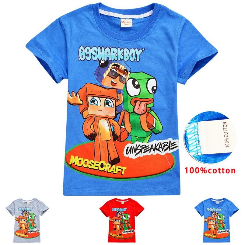 Summer cotton t shirt kids unspeakable moosecraft cartoon T shirt clothes toddler girls baby boys t shirts thanksgiving vestiti