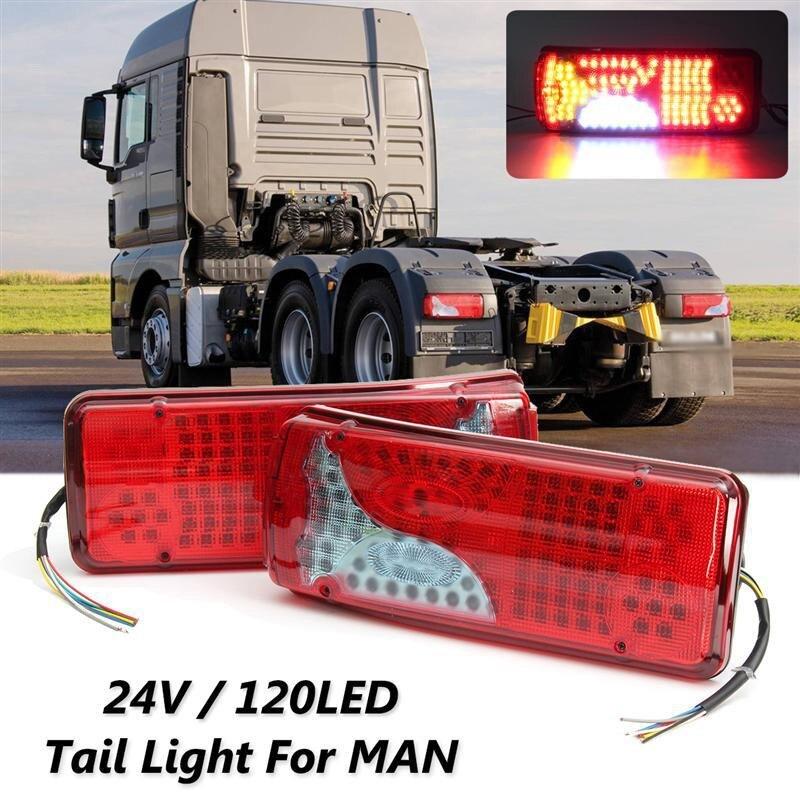 24V Car Tail Light Brake Stop LIght 120LED Tail Rear Fog Light for MAN for DAF for TGX for SCANIA