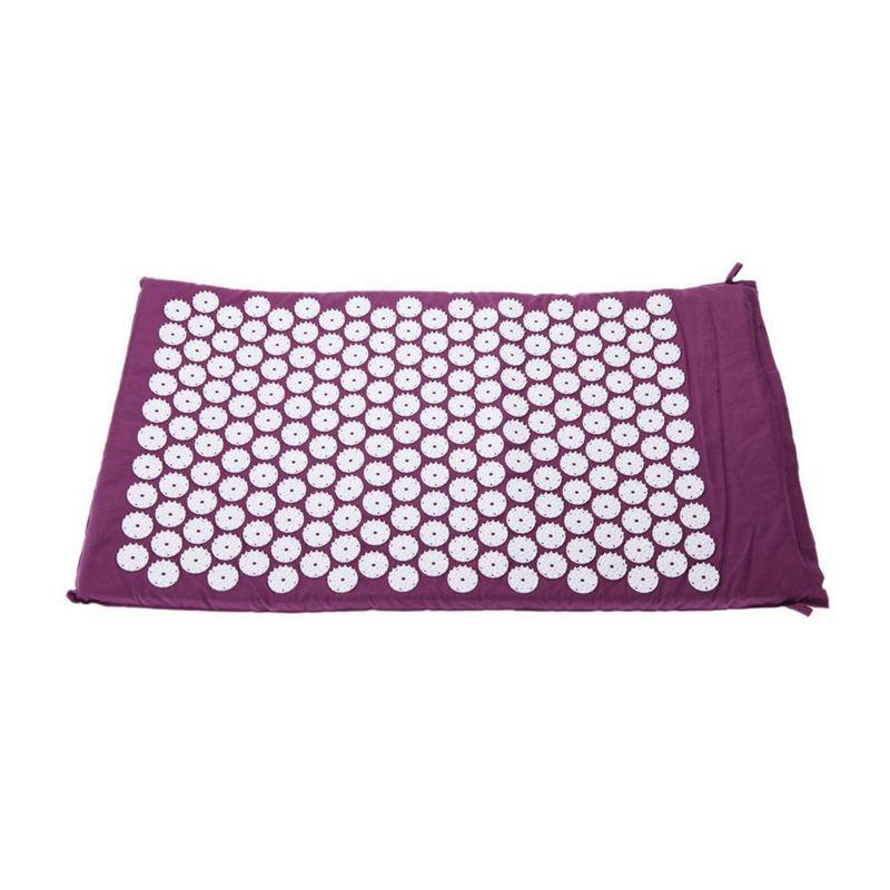 XSXS-alfombra para acupresión acupuntura masaje de Yoga + bolsa de transporte púrpura