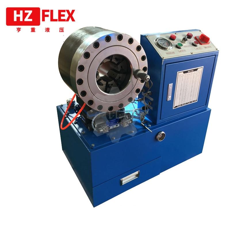 العقص الفرامل الهيدروليكية خرطوم الضغط التلقائي 240 فولت 1 المرحلة 60 هرتز HZ-68 51 مللي متر ماكينة لي خراطيم هيدروليكية
