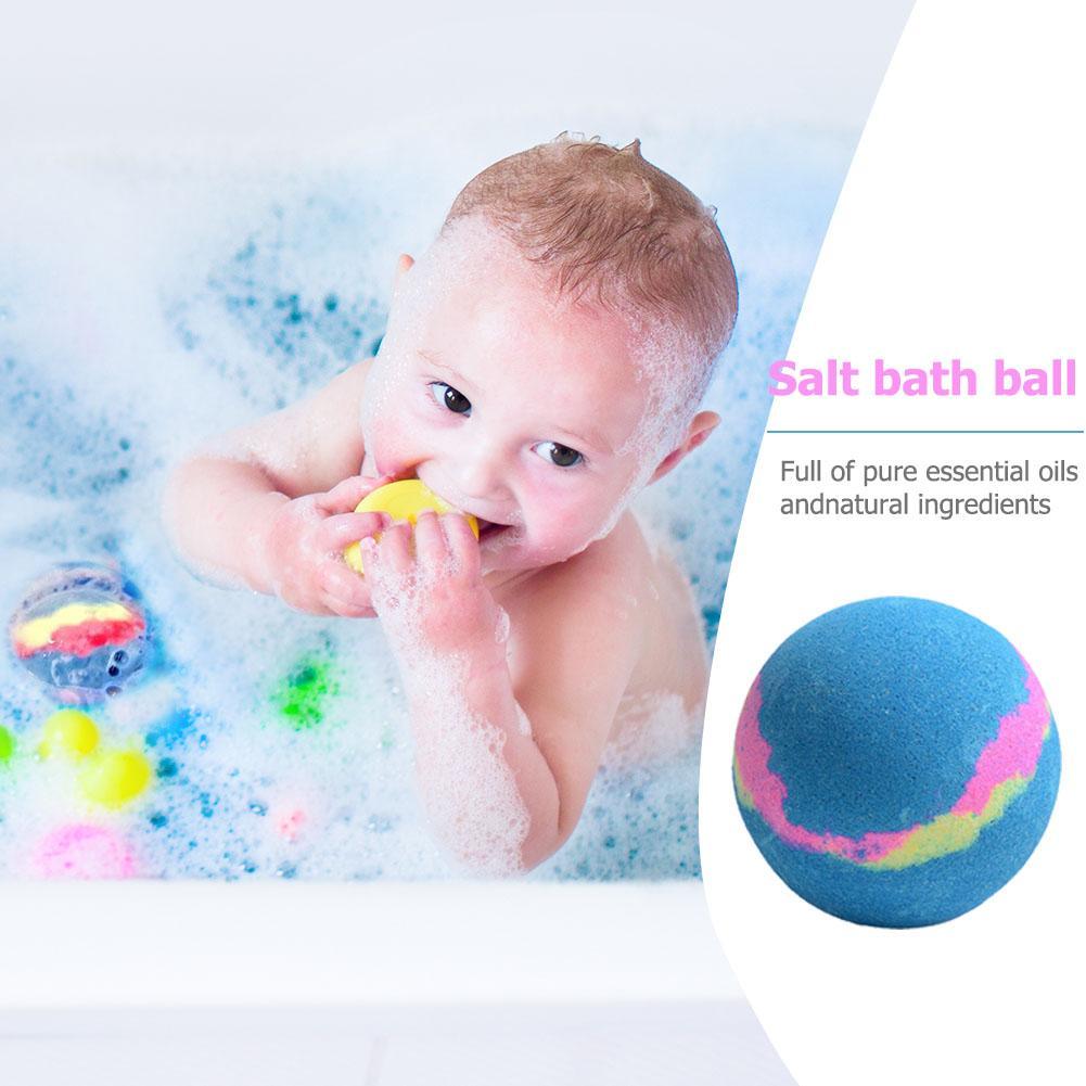 Bola de sal para baño de burbujas, aceite esencial hecho a mano, bomba de baño para aliviar el estrés Spa, bola exfoliante Natural