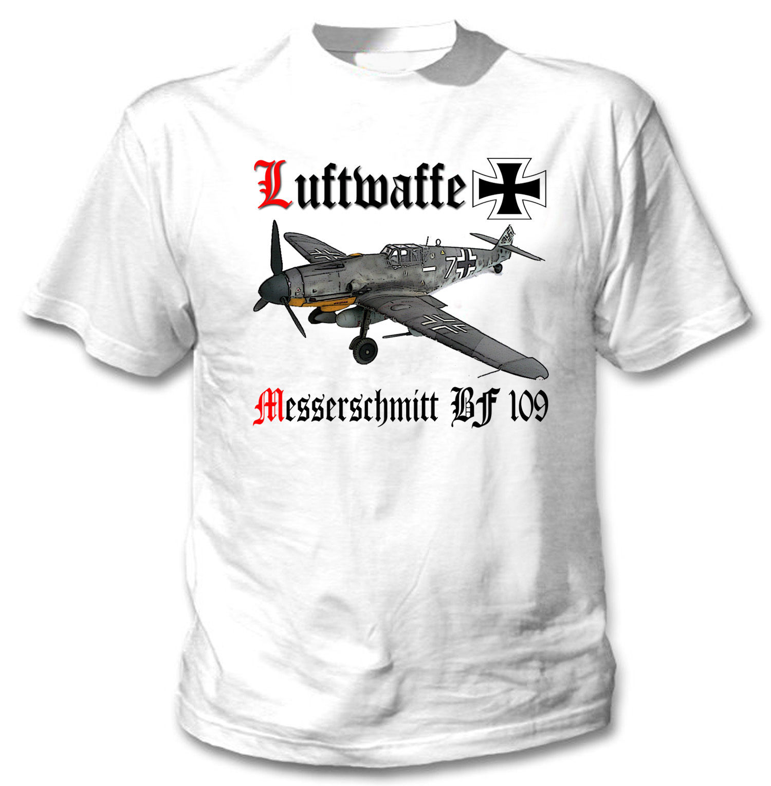 Nueva moda camiseta Messerschmitt Bf 109 Germany de la segunda guerra mundial...