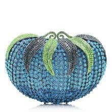 Évider tomate grand strass sacs de soirée Hardcase femmes cristal soirée sac à main de mariage fête bal sac à main femmes sac