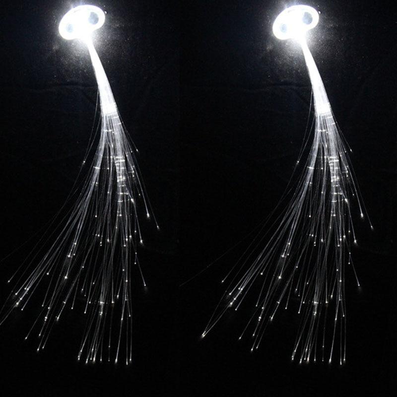 50pcs Led Party White LED Hair Clip Light Wire Hairpin Luminous Silk Braids Styling Tool Wedding Bir