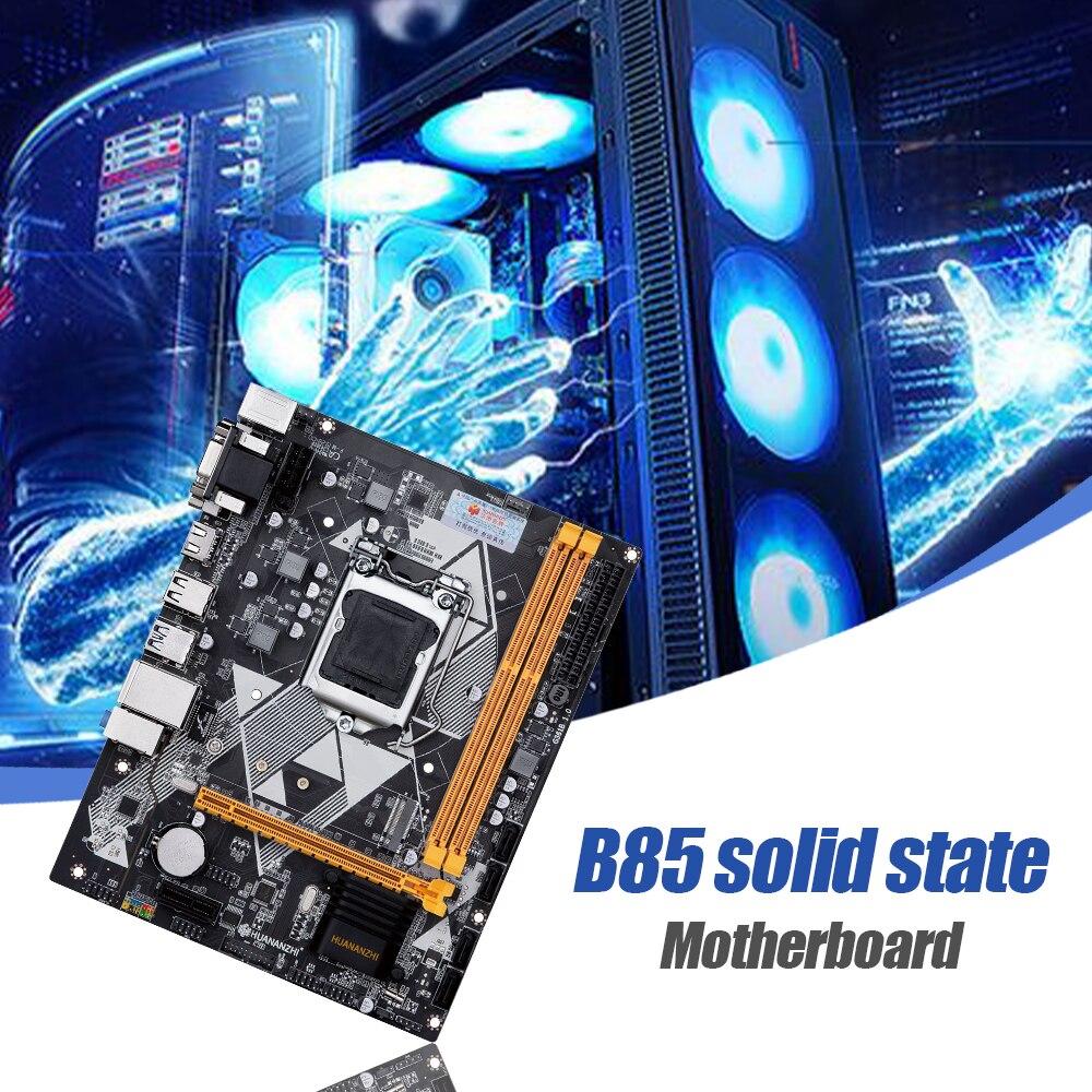 HUANANZHI B85 اللوحة 2xDDR3 الذاكرة M.2 NVME واجهة دعم LGA 1150 المعالجات حاسوب شخصي مكتبي اللوحة الأم