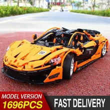 Lepinblock 20087 APP RC Technic série McLaren P1 voiture briques Kit de modèle MOC-16915 voiture de course blocs de construction jouets pour les enfants