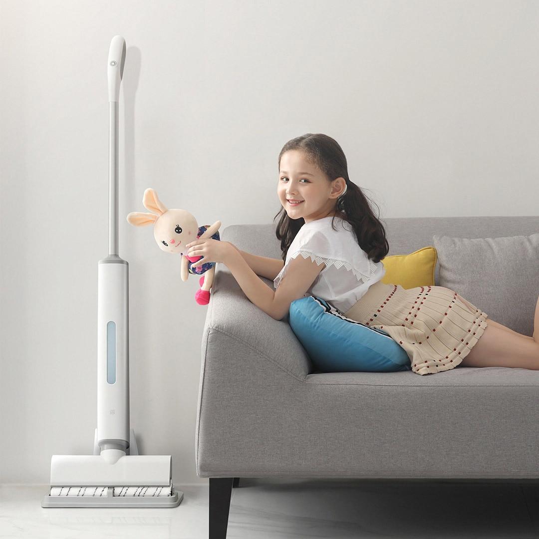 xiaomi swdk sem fio eletrica mop molhado e seco multifuncional limpador integrado
