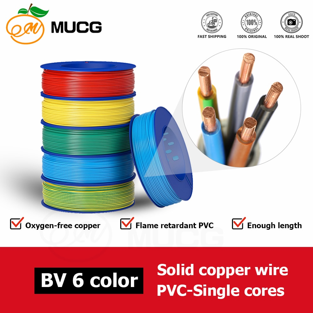 Cable eléctrico de cobre sólido, 10, 12, 14, 16, 18 awg, 14awg,...