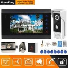 HomeFong Verdrahtete Video Intercom Mit Schloss Hause Türschloss Intercom System Unterstützung Bewegung Ermitteln Aufnahme 1000TVL Türklingel Kamera
