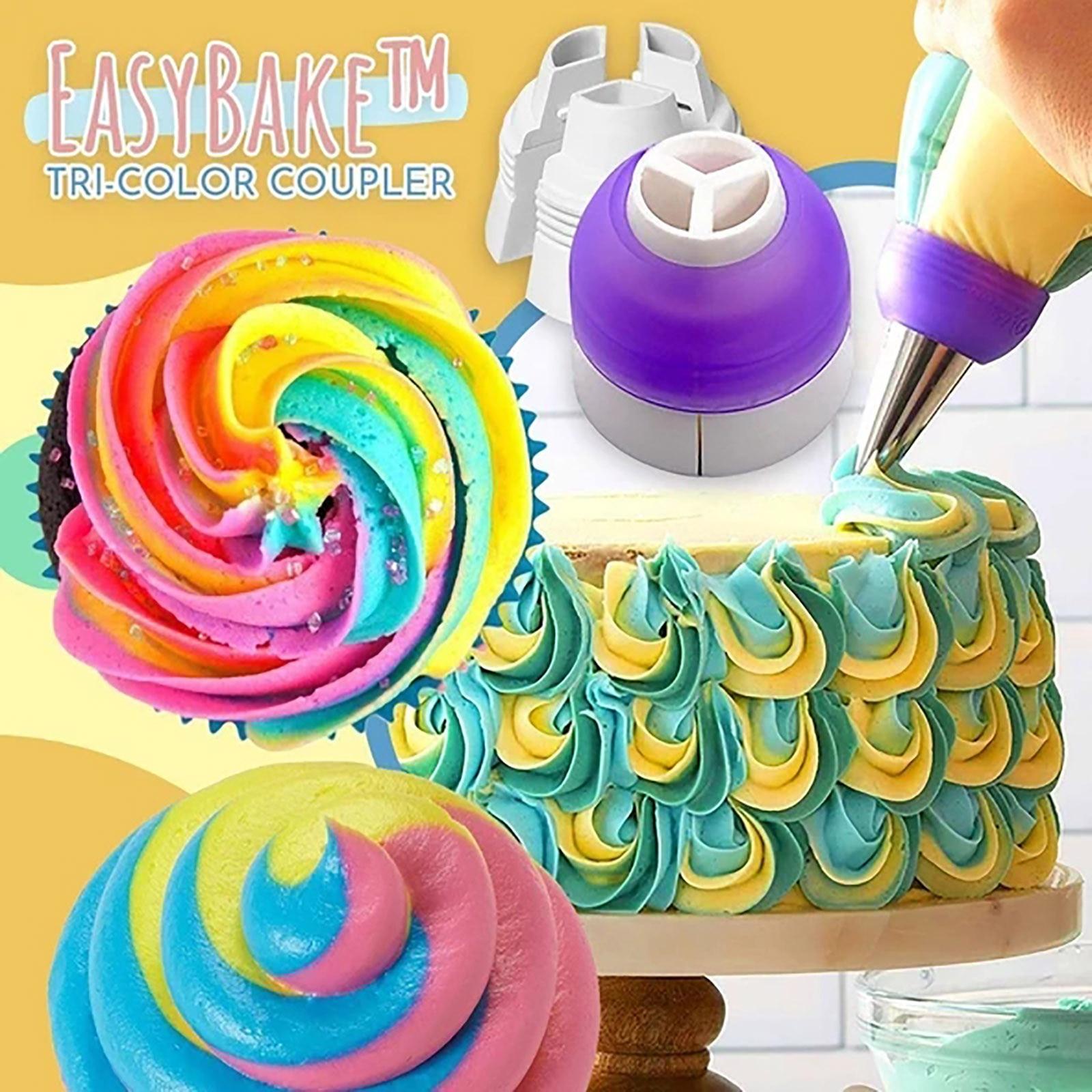 Convertidor de boquillas para bolsa de manga pastelera acoplador de crema tricolor adaptador de boquillas de pastelería