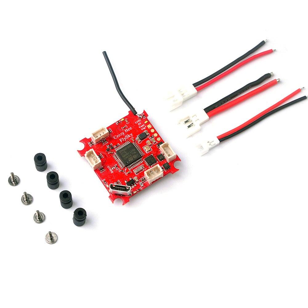 Controlador de vuelo Happymodel Crazybee F3, medidor de corriente OSD 4 en 1, 5A, 1S, Blheli_S, ESC Frsky Flysky, receptor para Dron RC FPV