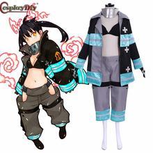 Cosplaydiy force de feu Enen pas shboutai Kotatsu Tamaki Costume de combat équipe Cosplay Costume pompier uniforme tenues dhalloween
