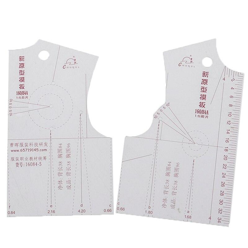 1 Uds artesanías hechas a mano DIY 15 ropa de mujer prototipo regla de dibujo herramientas Templete accesorios de costura a medida