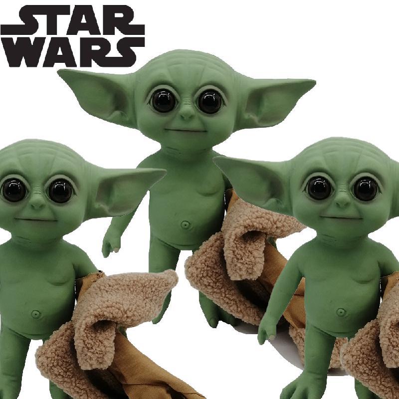 1pcs Anime Yoda Baby Grogu Mandalorians Action Figure Toys 5-27cm Action doll Toys Star Wars Figuras deco Hot Kids Toys Gifts