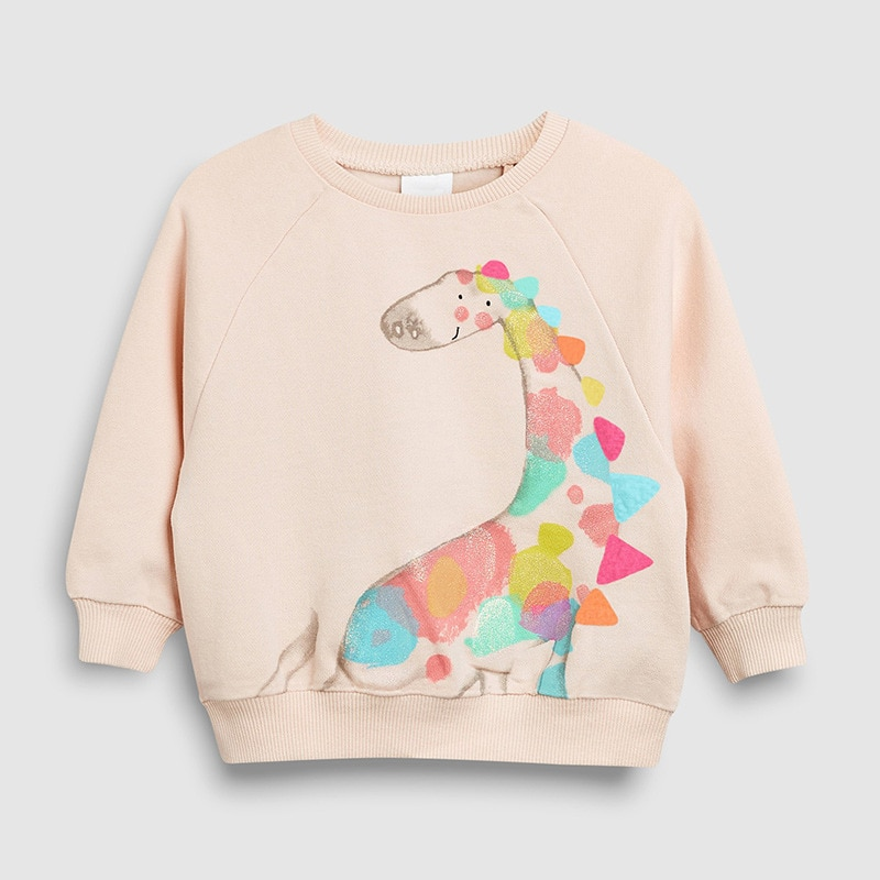 Little maven2-7Years Autumn Cotton Giraffe Print Toddler Kid's Baby Girl's Sweatshirt Children's Clothes For Girl Sweater Fleece