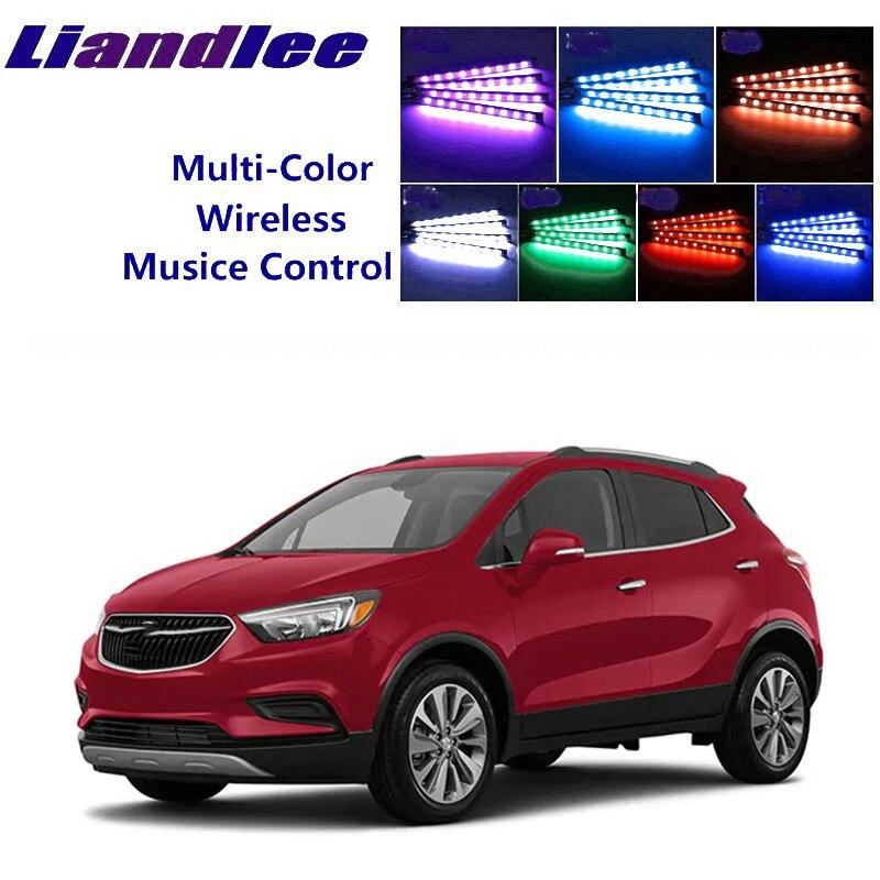 Liandlee carro neon cor-mudança de luz de atmibient dentro footwell luz para buick encore