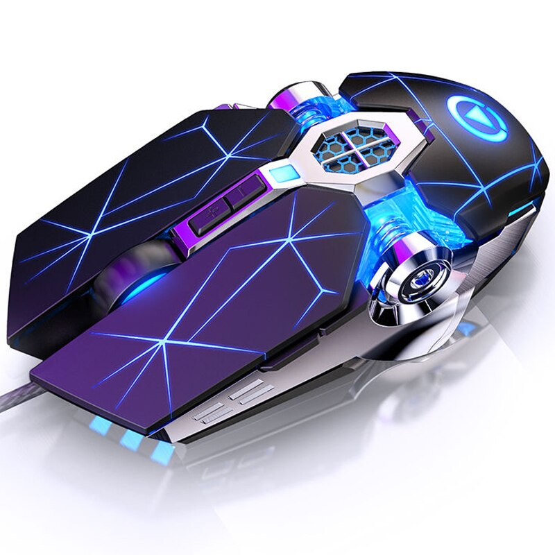 Pro Gaming Mouse Mause 7 Button DPI Adjustable Computer Optical LED Game Mice USB Wired Games Cable Mouse for PC Laptop Gamer