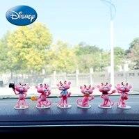 disney car ornaments cute pink panther car moving head cartoon decoration car interior accessories creative ornaments