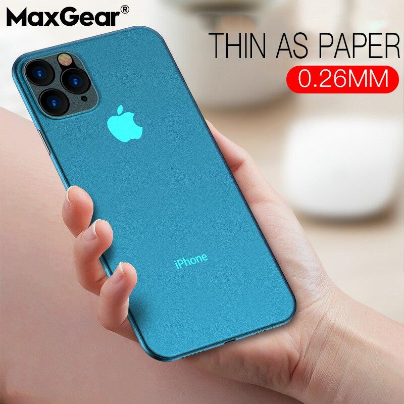 Luxo ultra fino macio 0.2mm pp matte caso para iphone 12 11 pro xs max xr xs x capa para iphone 6s 7 8 plus se 2 caso à prova de choque