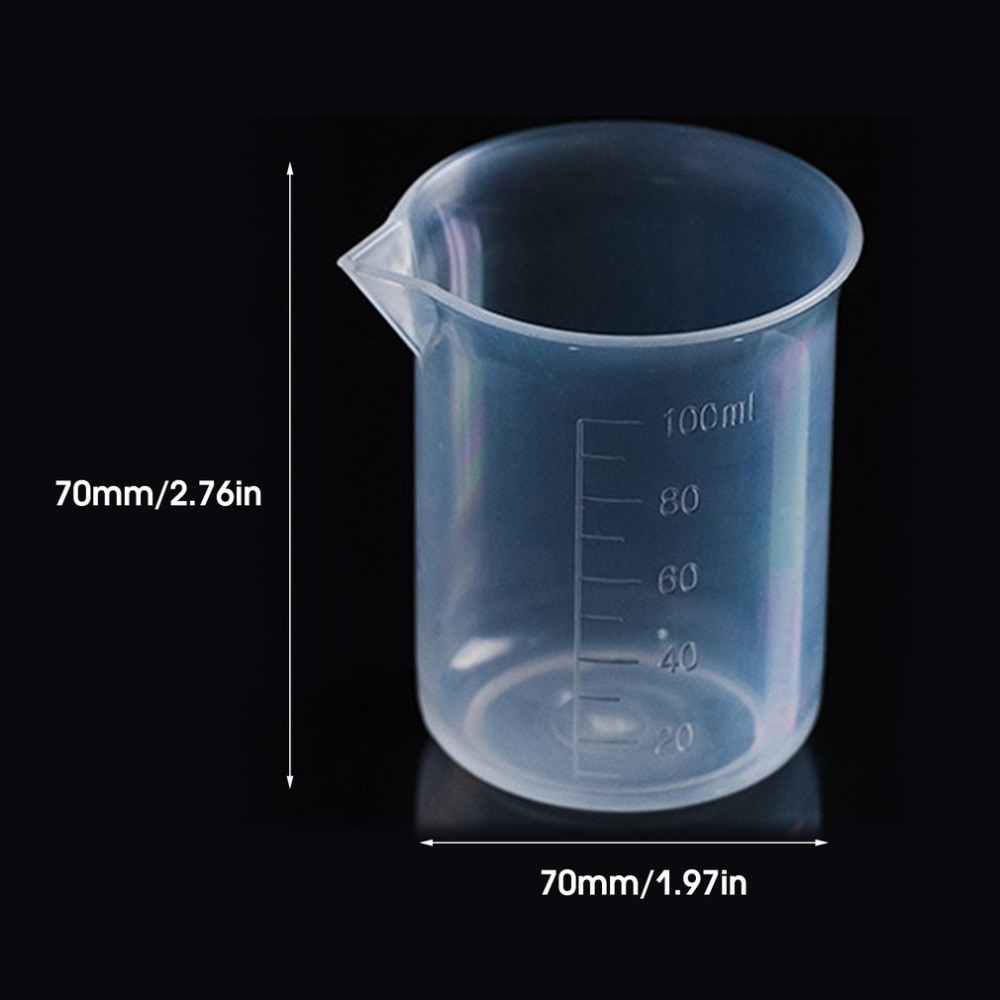 20pcs / High Quality 100ML Transparent Cup Clear Plastic Measuring Cup for Home Baking Kitchen Tools