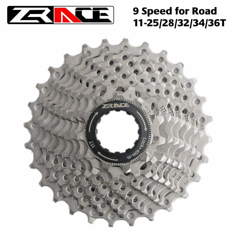 ZRACE-Cassette para bicicleta, de 9 velocidades, para carretera y montaña, volante, de 11-25T / 28T / 32T / 34T / 36T, Compatible con Alivio / Acera / SORA
