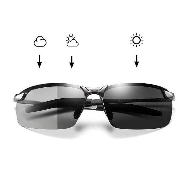 Photochromic Sunglasses Men Polarized Driving Chameleon Glasses Male Change Color Sun Day Night Vision Drivers Eyewear