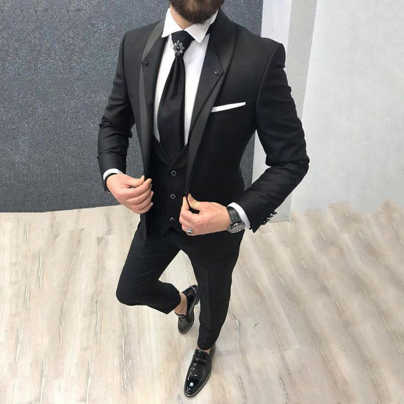 بدلة زفاف رجالية بدلة سهرة العريس بدلة ضيقة بدلة رجالي من Terno Masculino بدلة سهرة من 3 قطع سروال صدرية من Brugendi