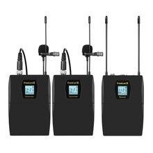 Système de Microphone Lavalier sans fil UHF avec 32 canaux pour Canon Nikon Fuji appareils photo reflex numériques Sony, caméscope, Smartphone
