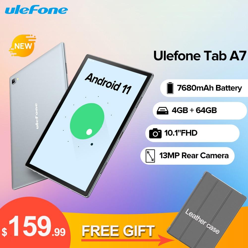 Ulefone Tab A7 أندرويد 11 7680mAh اللوحي 10.1 ''4G شبكة 4GB + 64GB ثماني النواة واي فاي 1200*1920 أقراص 13MP كاميرا خلفية
