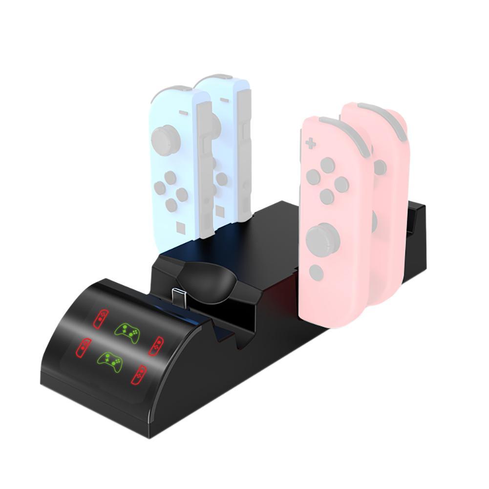 2019 nueva Base de cargador 8 en 1 para Switch Joy Con controlador de juego inalámbrico Base Gamepad Switch multifunción Base de carga # W1